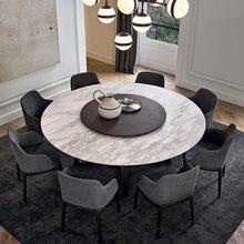 Каменный Мраморный Круглый Поворотный деревянный обеденный стол