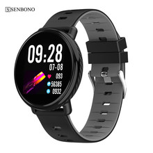 Senbono IP68 Waterdichte Ips Kleur Screen K1 Smart Klok Horloge Fitness Tracker Hartslagmeter Sport Smartwatch Pk CF58 CF18(China)