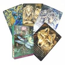 Cartão da adivinhação da festa da família os animais espírito besta anel anual cartão de oracle familiars tarô cartões versão completa em inglês