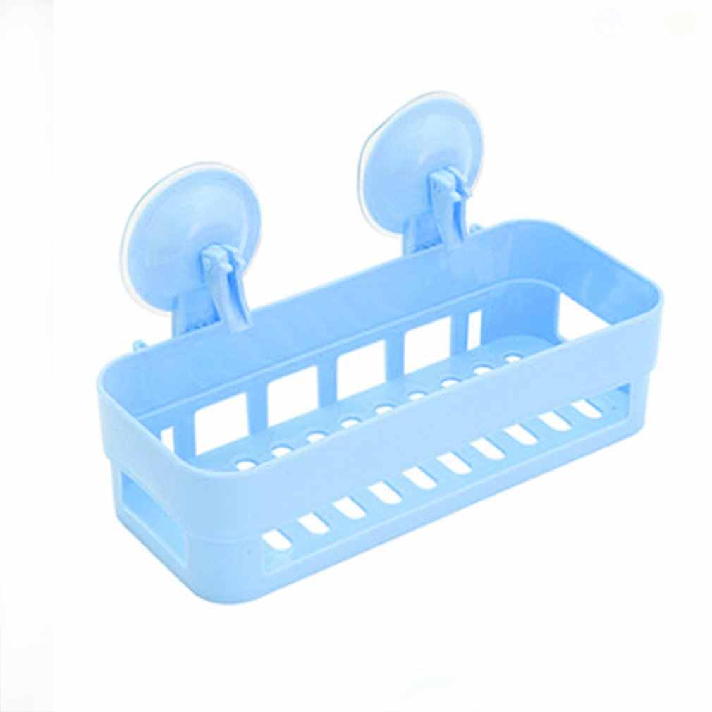 1pc Plastic Basket For Shower Bathroom Basket For Storage Wall Storage Rack Organizer Stick Bathroom Shelf Shampoo Holder