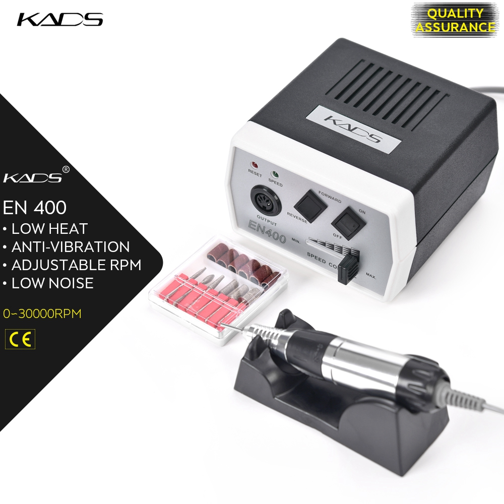 Image 2 - KADS 30000RPM manicure electric pedicure machine 35W Nail Drill Pen Set Black nail drill machine for Manicure Pedicure Tools-in Electric Manicure Drills from Beauty & Health