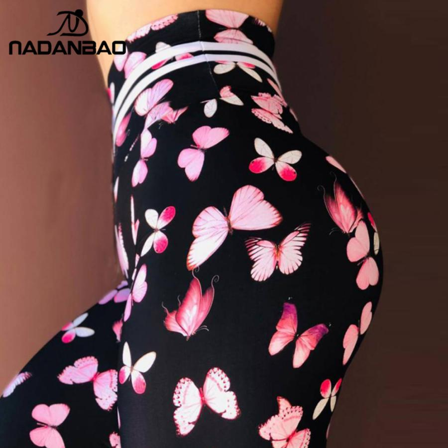NADANBAO Women Leggings 3D Printing Of Butterfly Jogging Leggings High Waist Elastic Sexy Female Pants