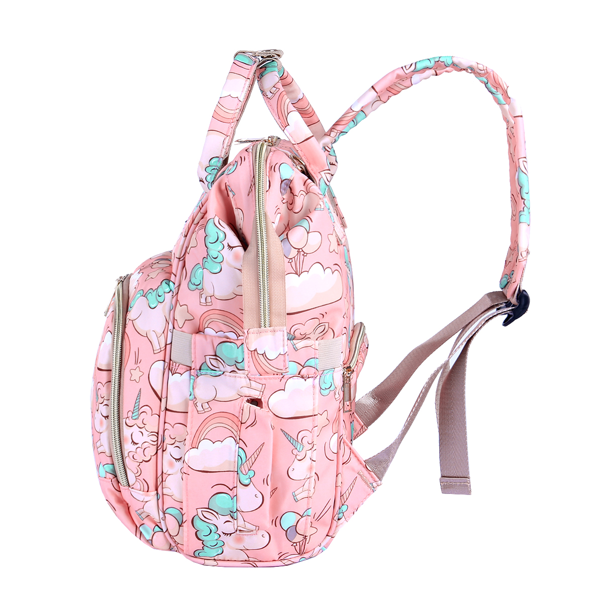 H4d0d87e1cd124b8fb67d407136659fdcJ Diaper Bag Backpack For Moms Waterproof Large Capacity Stroller Diaper Organizer Unicorn Maternity Bags Nappy Changing Baby Bag