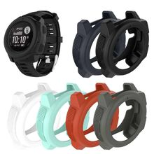 Light-weight Soft Silicone Protective Case Cover Skin Protector For Garmin Instinct Sports Smart Watch Accessories soft silicone protective case for garmin instinct smart watch dial protection transparent watch case for garmin instinct watch