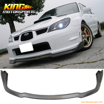 Fit For 06-07 Subaru Impreza Wax 4D CS Sport Style Black Poly Propylene Front Bumper Lip Spoiler