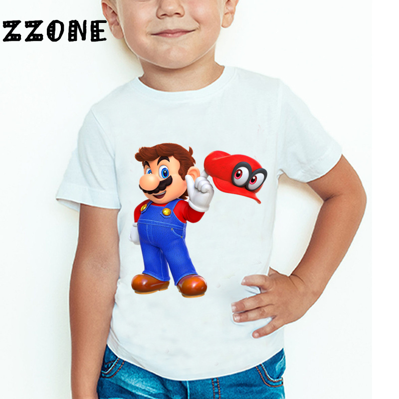 Baby Boys and Girls The Super Mario Bros Game Cartoon Fashion T shirt Children Short Sleeve Summer Tops Kids Clothes 3