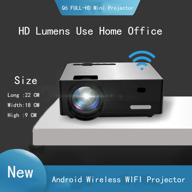 Thinyou Q6 Smart Android Drahtlose WIFI Bluetooth Tragbare mini Projektor Volle-HD 1280*720P Proyector Beamer Home theater