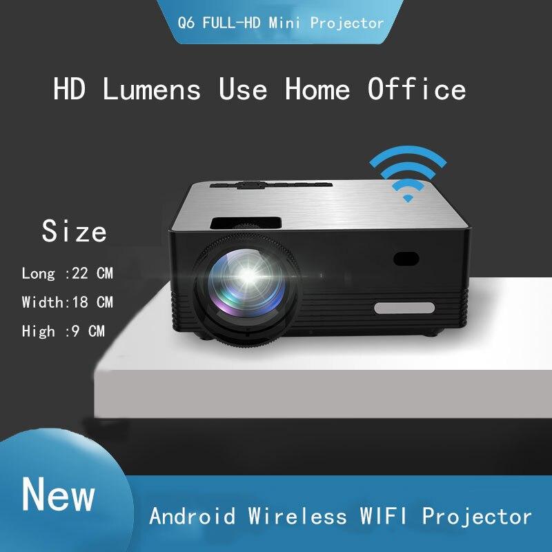 Thinyou. Q6 inteligente Android inalámbrico WIFI Bluetooth mini Proyector portátil Full-HD 1280*720P Proyector Beamer casa teatro Mini proyector con efecto de Nevada IP65 nieve móvil para exterior y jardín Proyector láser Luz de Navidad copo de nieve para fiesta de navidad