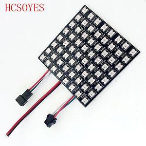 Image 4 - 16x16 8x32 8x8 led pikseli WS2812B cyfrowy elastyczny Panel ledowy indywidualnie adresowalnych pełny kolor marzeń DC5V