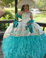 New Embroidery Sky Blue Quinceanera Dresses Halter Neck Lace Up Back Sleeveless Prom Dress vestidos de quinceañera 2020 crayfish embroidery zip up back dress