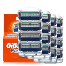 16/8Pcs/Lot Shaving For Gillette Fusion Replacement Heads 5+1 Layers Stainless Steel Razor Blades Straight Razor For Men