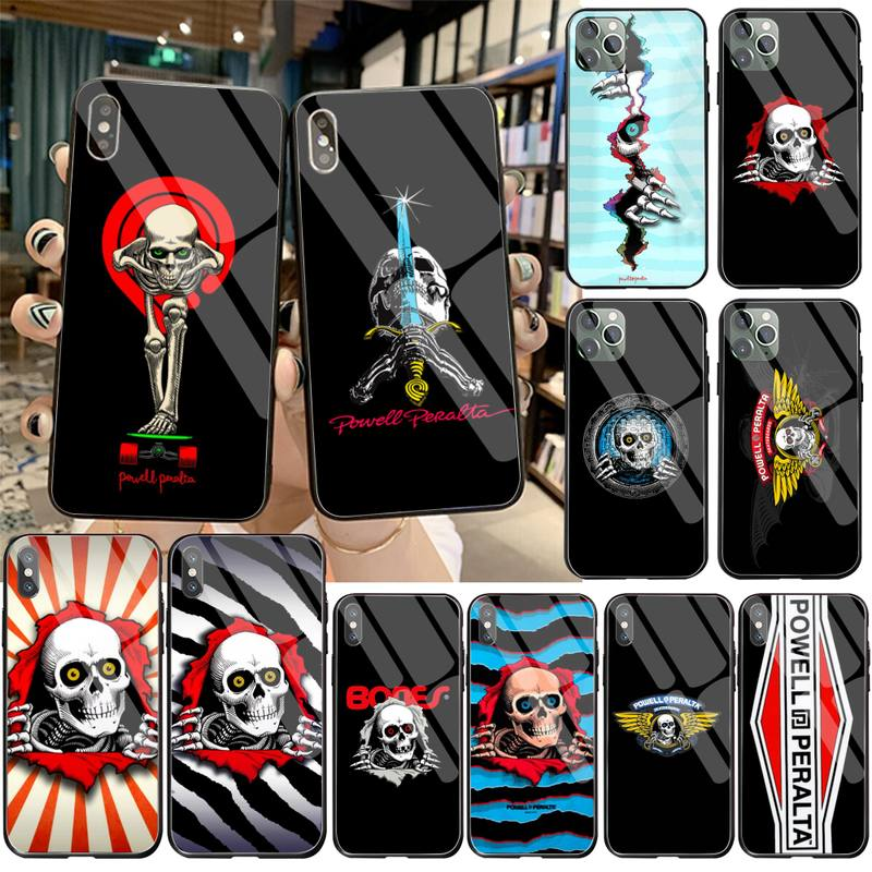 Skateboard Powell Peralta Phone Case Tempered Glass For iPhone 12 pro max mini 11 Pro XR XS MAX 8 X 7 6S 6 Plus SE 2020 cover