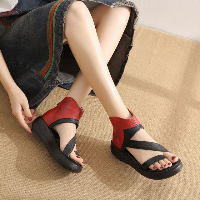 Women's Leather Platform Sandal