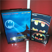 Batmans Game Japan Cover with Box and Manual for MD MegaDrive Genesis Video Game Console 16 bit MD card