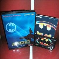 Batmans jogo japão capa com caixa e manual para md megadrive genesis vídeo game console 16 bit cartão md