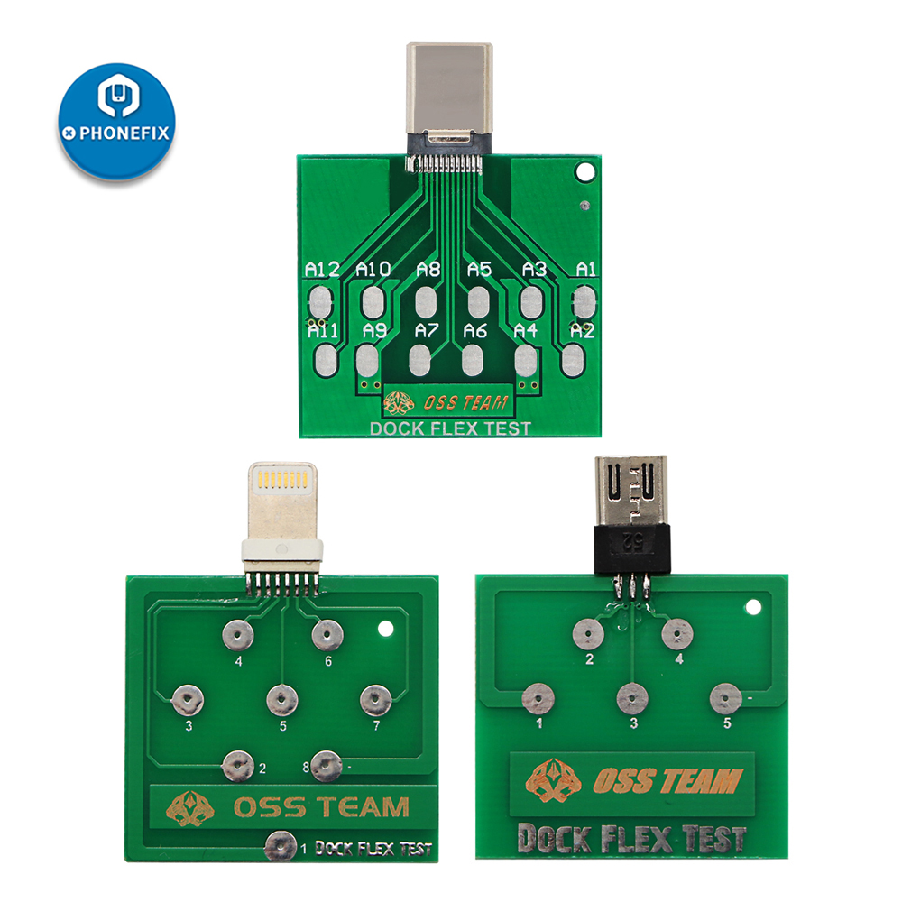 Micro USB PCB Test Board Charging Dock Flex Tester Repair For IPhone Andorid Battery Power Fix Tool