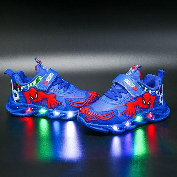 2021 dziecięce buty Led chłopcy zapalone trampki świecące buty dla dzieci trampki chłopięce dziecięce trampki tanie i dobre opinie 3-6y 7-12y CN (pochodzenie) CZTERY PORY ROKU Damsko-męskie