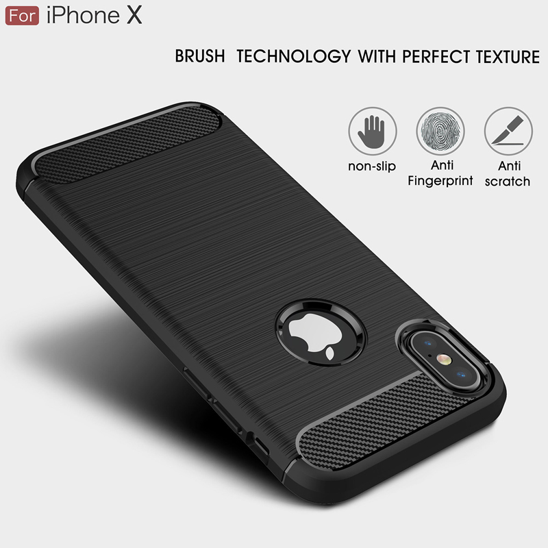 For iPhone X XS XR Soft Back Case Safe Shockproof Silicone TPU Phone Shell Cover for Apple iPhone XS Max Full Protective Case