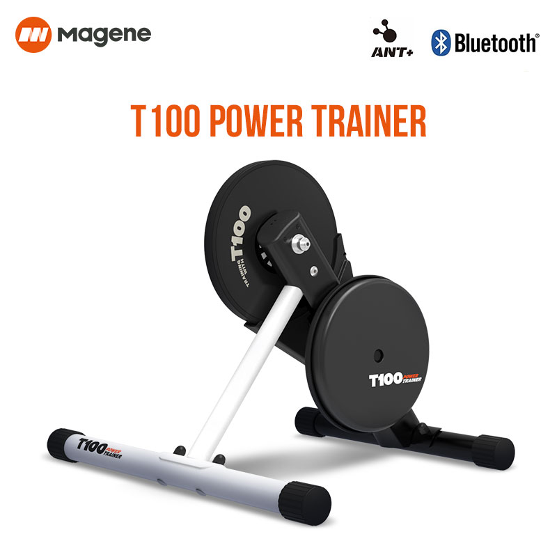 Magen T100, entrenador de potencia de bicicleta, plataforma de entrenamiento de bicicleta de interior plegable de accionamiento directo para PowerFun Zwift PerfPro, eje pasante