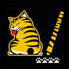 Window Wiper Decals Rear Windshield Decor Sticker Cat Moving Tail Stickers(China)