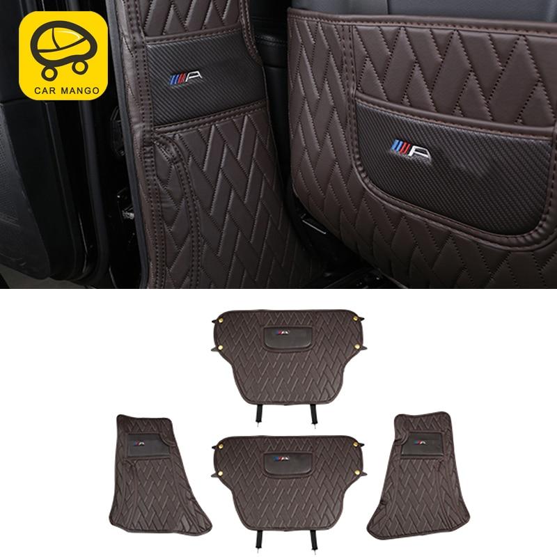 CarManGo для Mercedes Benz GLE ML GL GLS защитная накладка на заднее сиденье автомобиля кожаный коврик для защиты от ударов Подушка аксессуары для интерьер