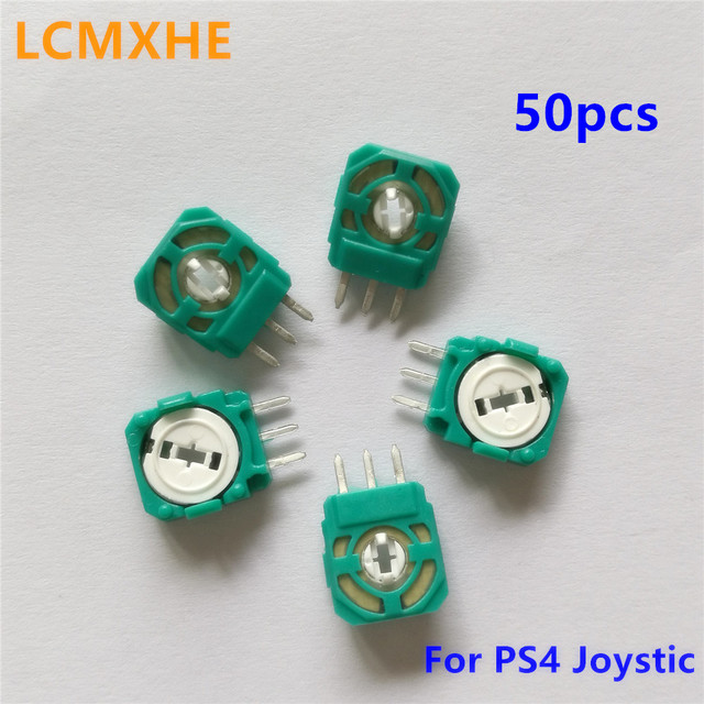 50pc 3D Analog Joystick potentiometer sensor module Axis Resistors for Playstation4 PS4 Controller Micro Switch replacement