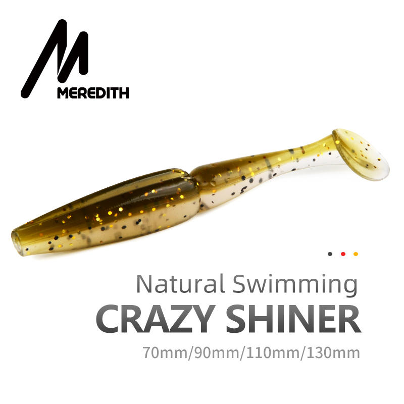 Fishing Meredith Easy Shiner Fishing Lures 50mm 75mm 100mm 130mm Wobblers Carp Fishing Soft Lures Silicone Artificial Double Color Baits