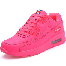 Air Cushion Women's Sneakers For Women Leather Running Shoes Woman Sport Sneakers Pink Ladies Sports Shoes Woman A074 комбинезон pink woman pink woman pi026ewgotw3