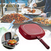 Double-sided Frying Pan Non-stick Baking Tray Portable for Home Kitchen Cooking HYD88 1
