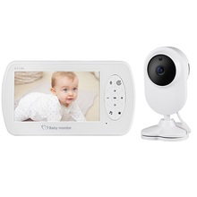 EBTOPS  Video Baby Monitor with Camera Two-way Audio Nanny Baby Security Camera Babyphone Night Vision Temperature Detection