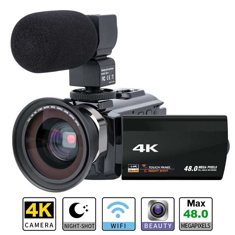 Bán Lẻ Quay Video Máy 4K Ultra HD Digital Camera Wifi 48.0Mp (Nội Suy) 3.0 Inch Báo Chí Màn Hình 16X Zoom Kỹ Thuật Số Ghi