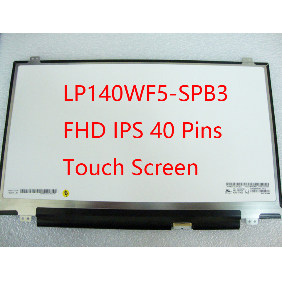"""00NY415 LED LCD Touch Screen Glass 14/"""" FHD IPS Display for Lenovo Lenovo FRU"""