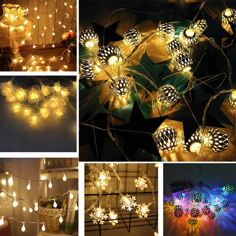 for birthday party decoration summer party holiday birthday garland led lights Birthday gift garland LED fairy string gift box lights