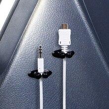 8 adet araba kablosu kablo tutucu çok fonksiyonlu kravat klip Fixer organizatör araba şarjı hattı toka yüksek kaliteli kulaklık kablosu klip