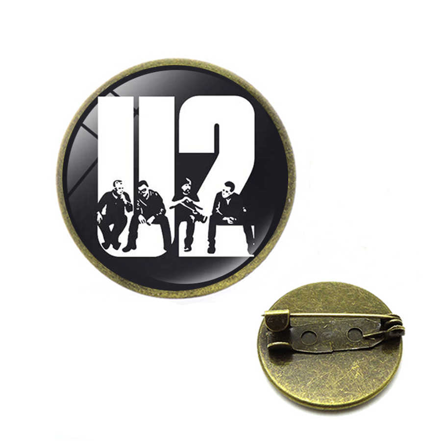 Banda de moda Pop Rock U2 broches Pins Steampunk Rock Band U2 broches solapa Pins joyería de hijab Pins regalos para los Fans