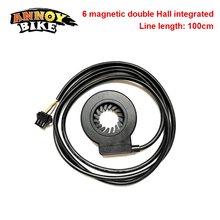 Czujnik PAS 5V 6 punktów magnetycznych 1:1 czujnik wspomagania pedału czujnik halla sygnał impulsowy elektryczny skuter e-bike części do konwersji