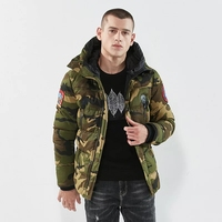 New Warm lining Hooded Winter Jacket Men Cotton Padded Camo Printed Jacket Thick Outerwear Overcoat Outdoor 3XL