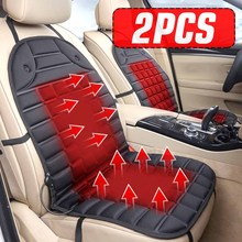 2PCS 12V Universal Fast Thicken Heated Car Seat Cushion Cover Electric Heater Winter Warmer Heating Pad