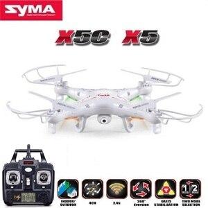Image 1 - Syma X5C (アップグレード版) rc ドローン 6 軸リモートコントロールヘリコプター quadcopter 2MP hd カメラや X5 rc dron なしカメラ