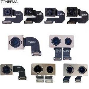 Image 2 - Модуль камеры заднего вида ZONBEMA с датчиком вспышки, основная камера с гибким кабелем для iPhone X, XR, XS, 5 5S, 5C, SE, 6, 6S, 7, 8 Plus, XS MAX, оригинал