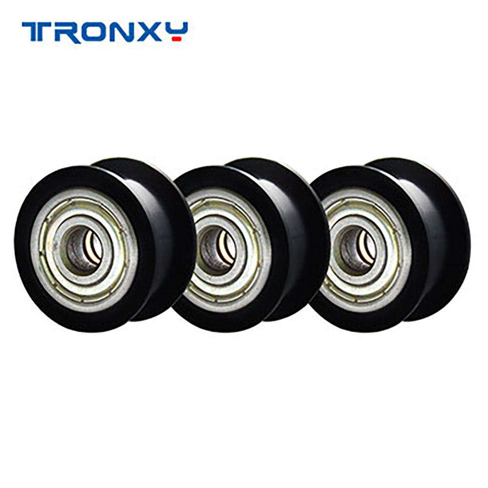 Tronxy 5PCS/Lot 3D Printer Parts Pulley Wheel Plastic Profile Rail I-Wheels Pulley For 3D Printers Accessories Free Shipping