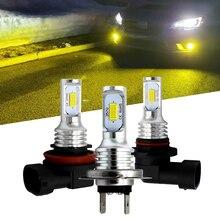 Ampoules anti brouillard de voiture, LED HB4, 9006 K 6000K 3000K, jaune doré, 12V 24V, lampe LED Auto ampoules H7 H11 H8 H9 H1 H3