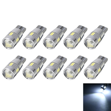 New Arrival 10pcs/set T10 5630 6LED Canbus Error Free Projector Lens Light DC 12V Indicator Lamp Bulb W5W 194 168