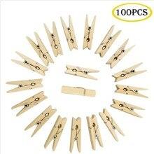 Pegs 100pcs Clips-Decoration Craft Photo-Paper Wooden DIY Mini