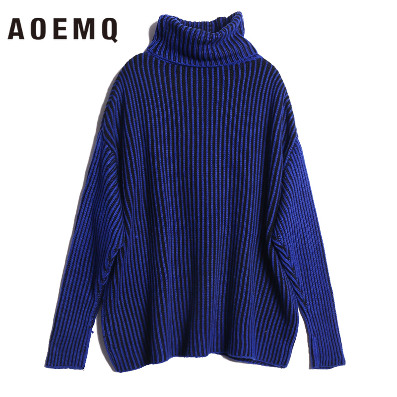 AOEMQ Winter Hot Sell Sweater Keep Warm Use High Turtleneck Protect Neck Winter Warm Sweater Cotton Soft Sweater For Women