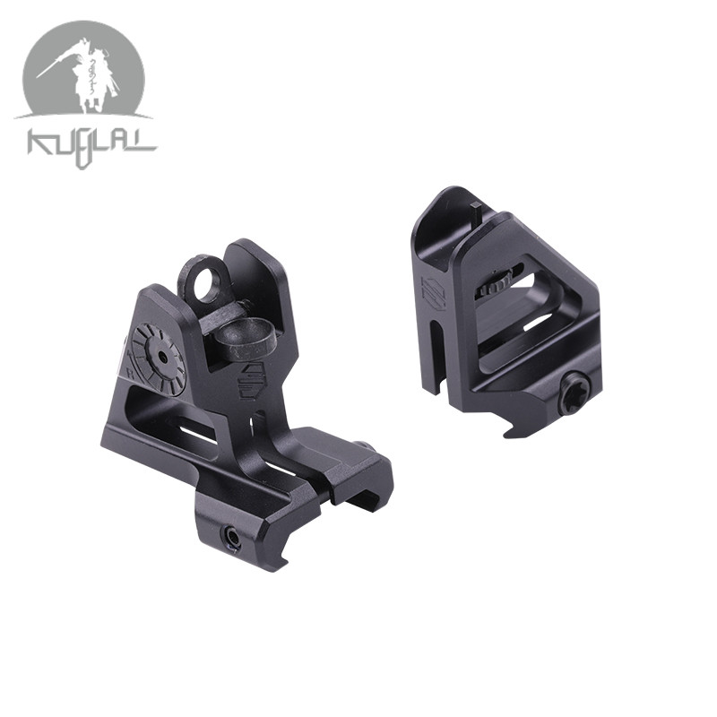 Tactical OPS Front Rear Sight Flip Up Rapid Transition Backup Scalarworks Sight For Picatinny Rail