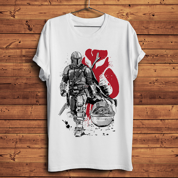 The Mandalorian warrior funny t shirt men summer new white casual homme short sleeve cool tshirt unisex gift - discount item  51% OFF Tops & Tees