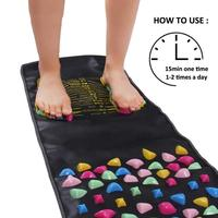 Foot Spa Massager Reflexology Stone Foot Acupressure Massage Mat Pain Relief Feet Walk Massager Walk Stone Foot Massage Mat Pad
