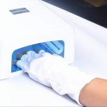 1 par quente proteção uv luva da arte do prego gel anti uv luva uv lâmpada led secador de luz proteção contra radiação ferramenta da arte do prego