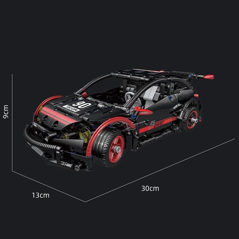 MOULD KING 18013 The APP RC MOC-6604 Hatchback Type R Model Building Blocks